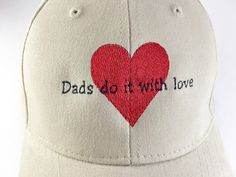 BALLCAP FOR DADS - Gifts for Dad, Caps for Men, Baseball Caps, Father's Day Caps, Embroidered Ball Caps, Dads Do It With Love, Caps for Him