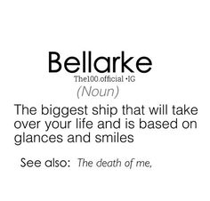 // Bellarke // The 100 // The CW // Bellamy and Clarke //