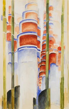 Frantisek Kupka Etude pour la montée, 1920 To grow something you need some soil (black figures in the bottom) and some water (whitish. Piet Mondrian, Abstract Painters, Abstract Oil, Kandinsky, Frantisek Kupka, Marcel Duchamp, Cubism, Beautiful Paintings, Figurative Art