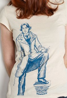 Women's Oscar Wilde TShirt Victorian Literary by TheMightySquirm Cool Outfits, Casual Outfits, Casual Clothes, Sweater Shirt, T Shirt, Oscar Wilde, Look Fashion, Fashion Ideas, I Love Books