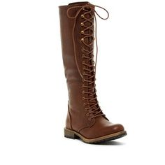 Elegant Footwear Dominique Lace-Up Tall Boot