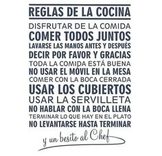 Reglas de cocina Clean House, Feng Shui, Home Deco, Me Quotes, Sweet Home, New Homes, House Design, Lettering, Thoughts