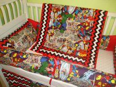 www.sewunexpectedthreads.etsy superhero avengers crib bedding