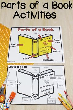 Teaching your kids book awareness is an important concept of print and a pre-reading skill that kids need to learn. Use these Parts of a Book Poster