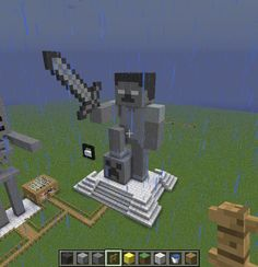 herobrine-minecraft-drawingdeviantart–more-like-minecraft-herobrine-statue-by-k… - Minecraft World Minecraft Statues, Minecraft Room, Minecraft City, Minecraft Plans, Minecraft Videos, Minecraft Construction, Amazing Minecraft, Minecraft Tutorial, Minecraft Blueprints