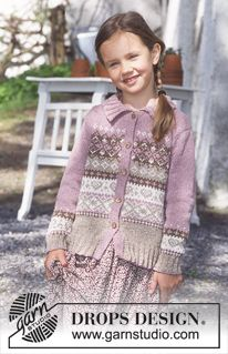 DROPS V-neck Vest in Angora-Tweed (men's and children's sizes) Free pattern by DROPS Design.