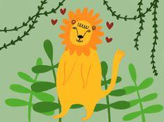 🦁🌿❤️ #lion #jungle #plants #print #illustration #procreate #graphic #design #art #instaart