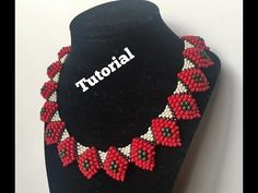 DIY beaded necklace peyote and brick Stitch necklace - YouTube
