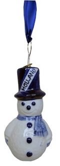 Snow Man Christmas Ornaments