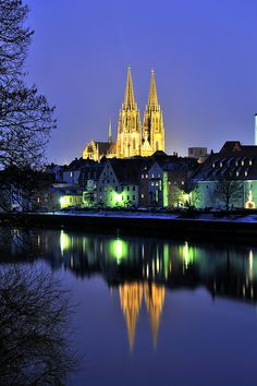 I actually LIVED in this beautiful town for three years!! St Peters, Regensburg in Bavaria.