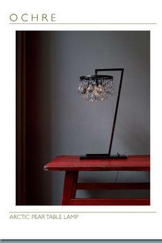 Chandelier desk lamp !?! makes for an elegant work space