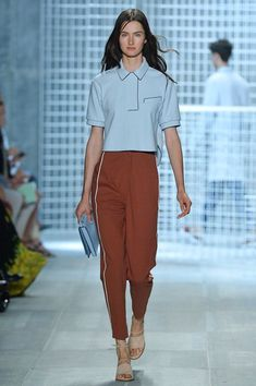 Polo style shirt and sporty track pants