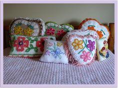 Custom Make Vintage Chenille Pillows