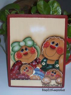 Handpainted Gingerbread Plaque por stephskeepsakes en Etsy, $12.95