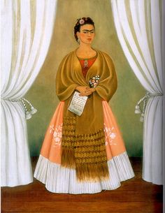 Frida Kahlo:  Self-Portrait dedicated to Leon Trotsky, 1937 by petrus.agricola, via Flickr