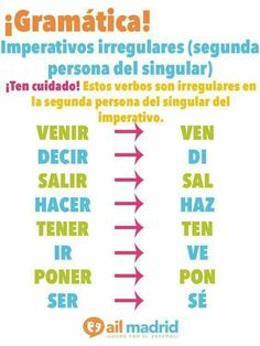 Imperativos irregulares #learnspanishtips