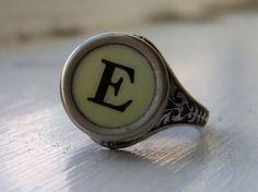 typewriter letter ring.. :)