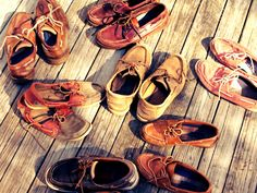 Boat shoes galore.