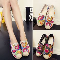 Women's Girl's Korean Series Espadrilles Shoes Flat Comfort Casual Loafers