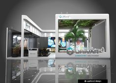 UNIVAR BOOTH DESIGN on Behance Exhibition Stall, Exhibition Stand Design, Exhibition Ideas, Display Design, Wall Design, House Design, Counter Design, Home Technology, Showcase Design