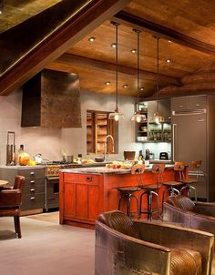 Rustic Log Home Kitchen