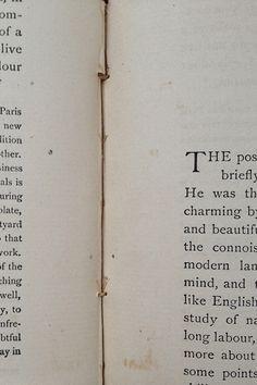 Inside a vintage book
