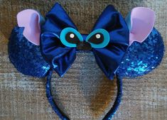 Stitch Inspired Ears by EverAfterByPatti on Etsy Disney Ears Headband, Diy Disney Ears, Disney Headbands, Disney Mickey Ears, Disney Diy, Disney Crafts, Ear Headbands, Mickey Mouse, Stitch Ears