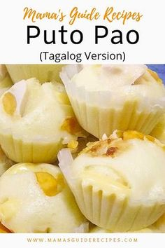 Kakanin - Page 2 of 5 - Mama's Guide Recipes Filipino Puto Recipe, Siopao Recipe, Bibingka Recipe, Filipino Recipes, Filipino Appetizers, Filipino Dishes, Filipino Desserts, Filipino Food, Recipes