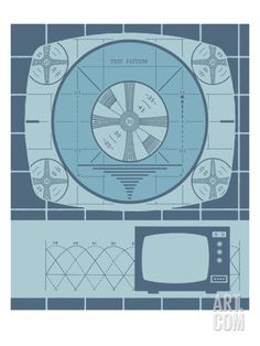 Television Test Pattern Art Print by Pop Ink - CSA Images at Art.com