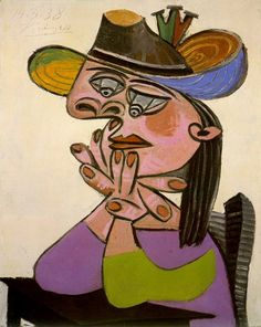 Pablo Picasso. Femme accoudee. 1938