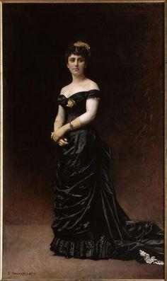 Bonnat - Portrait de madame Bishoffsheim