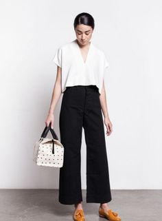 Would You Try Cropped Wide Leg Pants