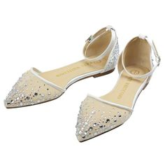 de72ab34d91 Wedding Flats   Low Heel. Wedding Flats Rhinestone Bridal Shoes - Elle  Ivory - Kate Whitcomb Shoes