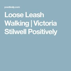 Loose Leash Walking | Victoria Stilwell Positively