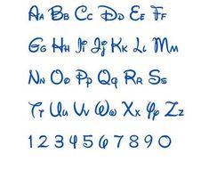 Walt Disney Machine Embroidery Font Designs In 3 Sizes