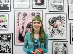 Grimes and her art work