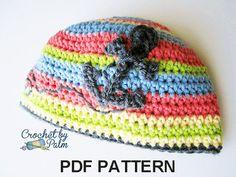 Anchor Beanie PDF Crochet Pattern Nautical Hat by CrochetbyPalm