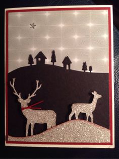 Another Christmas card with Memory Box and Stampin up.