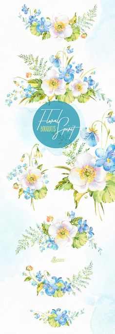 This Floral Spirit set of hand painted watercolor Bouquets. Perfect graphic for diy projects, wedding invitations, greeting cards, photos, posters, quotes and more. ----------------------------------------------------------------- INSTANT DOWNLOAD Once payment is cleared, you can