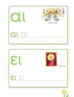 e and ee Learn Greek, Greek Alphabet, Greek Language, Kid Flash, Activities, Teaching, Education, Holiday Decor, Cards
