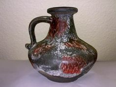Vase RUSCHA KERAMIK 377-21 LAVA FOAM WGP 60s ? H: 21 cm