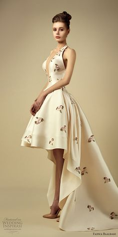 fadwa baalbaki spring 2017 couture sleeveless high low a line floral gown (4) mv train -- Fadwa Baalbaki Spring 2017 Couture Dresses