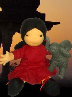 Maya and Mya waldorf doll