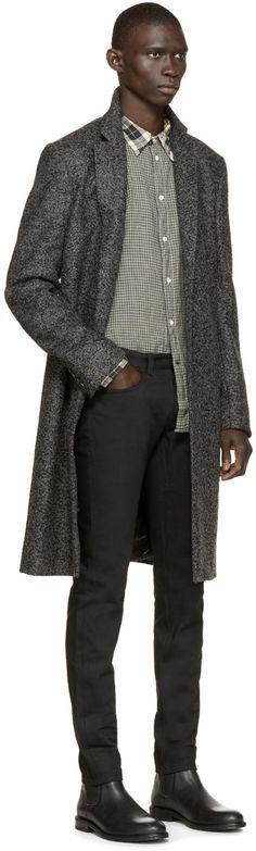 Paul Smith Jeans Black Plaid & Gingham Shirt