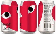Comme des Garcons and Coca-Cola co-branding. So cool.