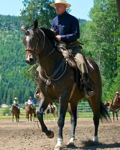 Ever wanted to ride with Brannaman? Head to one of his clinics at the McGinnis Meadows Cattle & Guest Ranch #duderanch