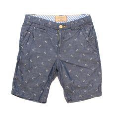 Anchor Short | Minnows & Guppies  #boys #nautical #anchor #shorts #rosépistol