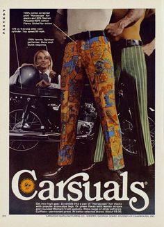 Carsuals:  The pants that make other riders yield from afar.
