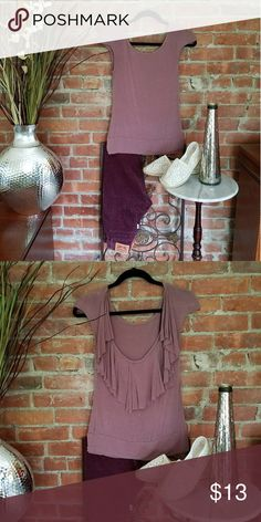 Capped Sleeve Ruffled Top This is a beautiful rose colored top with a gorgeous back!   Low cut and soft ruffles make this a must have to show off your summer color! Tops Blouses