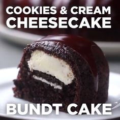 Cookies And Cream Cheesecake Bundt Cake. Shared by Career Path DesignCookies And Cream Cheesecake Bundt Cake Take out oreos, use monk fruit to replace sugar, Lilly's chocolate chips, keto chocolate cake recipe instead of box.What a great way to ruin Easy Desserts, Delicious Desserts, Yummy Food, Baking Recipes, Cake Recipes, Dessert Recipes, Cocoa Recipes, Salad Recipes, Yummy Treats